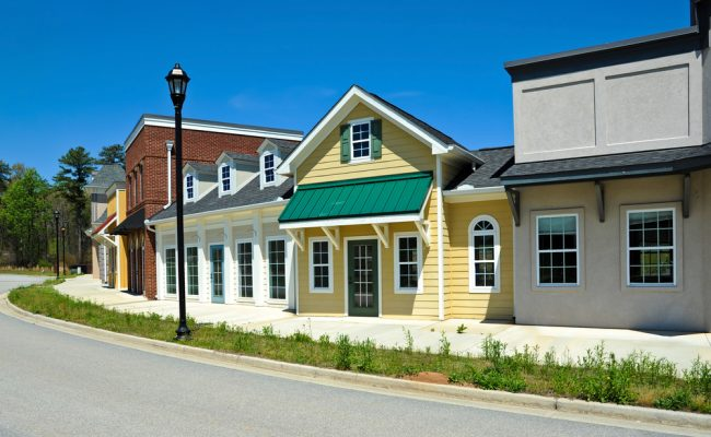 Painted buildings Durham North Carolina